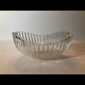 Vintage Unique Glass Dish.